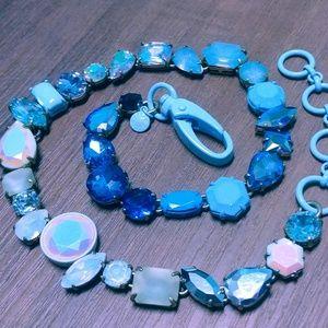 PRICE FIRM brûlée brulee Blue clasp ombre crystal